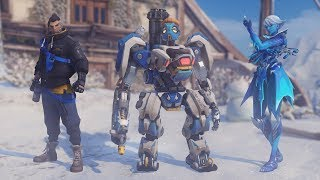 Winter Wonderland 2017 - Skins, Emotes, Poses, Voice Lines [Overwatch] thumbnail
