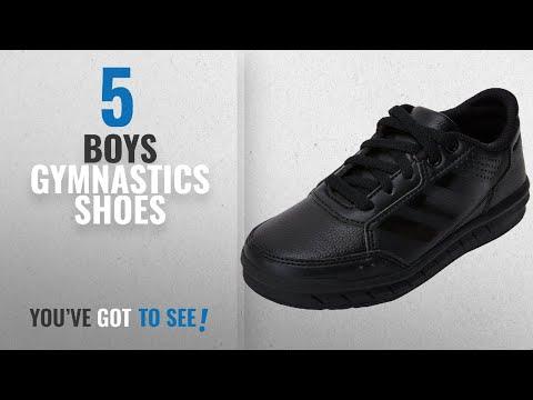 top-10-boys-gymnastics-shoes-[2018]:-adidas-altasport-cf,-unisex-kids'-low-top-sneakers,-black