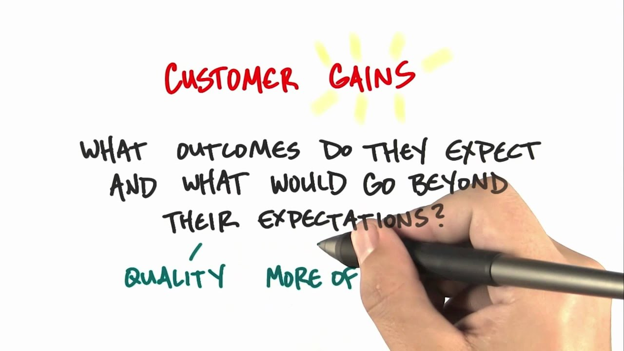 Customer Gains - How to Build a Startup