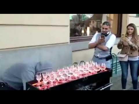 Best street water glass music performance