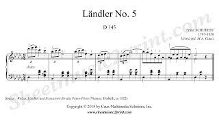 schubert : ländler no. 5, d 145 - youtube  youtube
