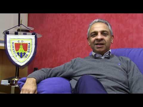 Presiden CD Numancia Soria Spanyol menyambut Osvaldo Haay