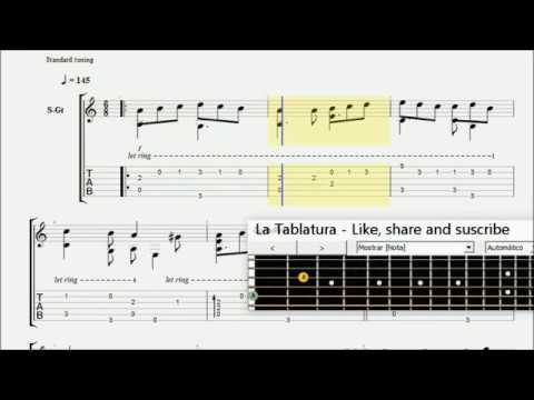 Tourdion (Medieval french dance) - Guitar tablature