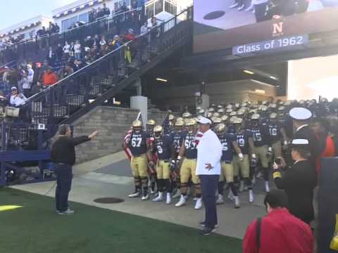Navy taking the field vs USF