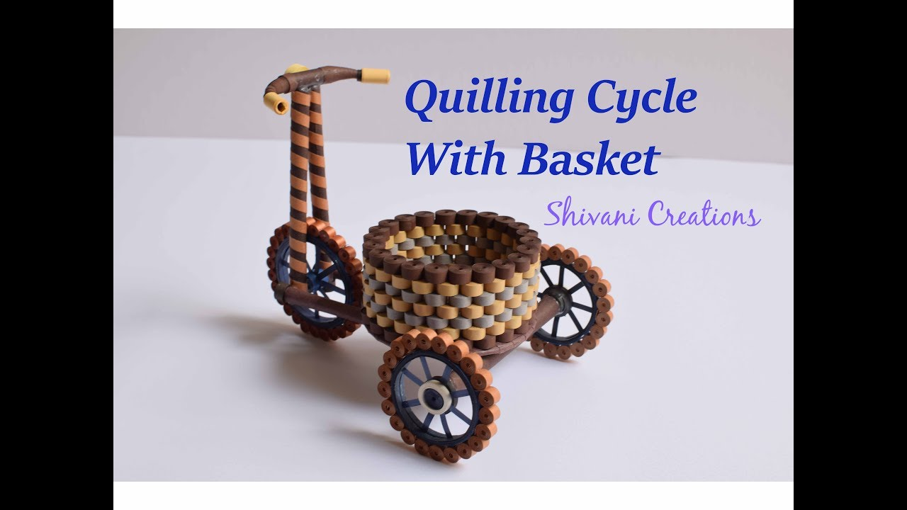 Quilled Basket Part 1: Paper Basket/ Quilling Basket/ Quilled ... | 720x1280