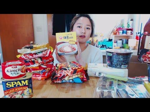 Korean Instant Food MUKBANG + 100K Subscribers Giveaway [CLOSED]