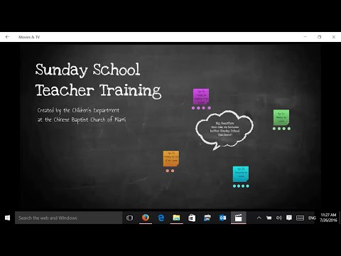 Sunday School Teacher Training