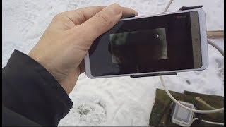 Подводная съемка экшен камерой с выводом изображения на смартфон