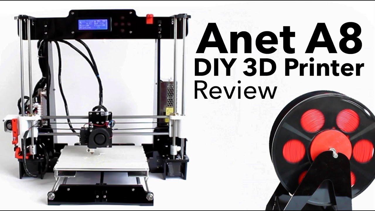 Anet A8 DIY 3D Printer Review