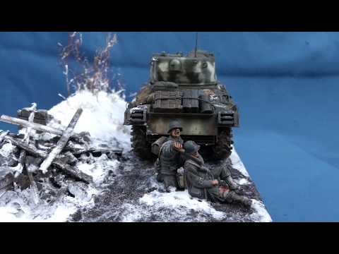 """""""Brothers In Arms"""" Battle Of The Bulge 1944 Diorama In 1/48 Scale"""