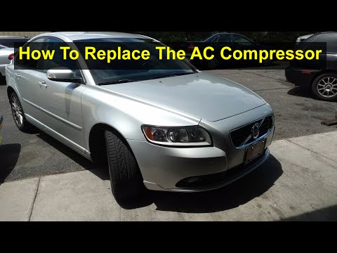 How to replace the AC compressor on a Volvo S40, C30, C70, P1 car. – VOTD
