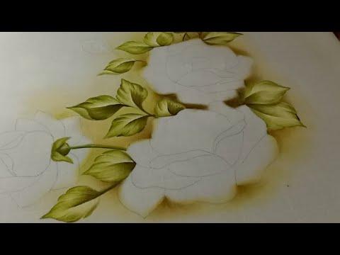 Como Pintar Manteles Mantel De Rosas