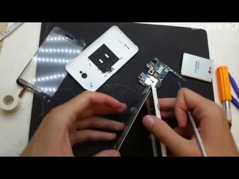 LG L70 - WYMIANA SZYBKI - DOTYKU - DIGITIZER - LCD - REPAIR - DISASSEMBLY
