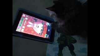Cassie Girl Playing with Pou Ü