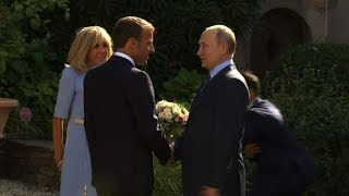 Macron and Putin meet for talks in Southern France   AFP