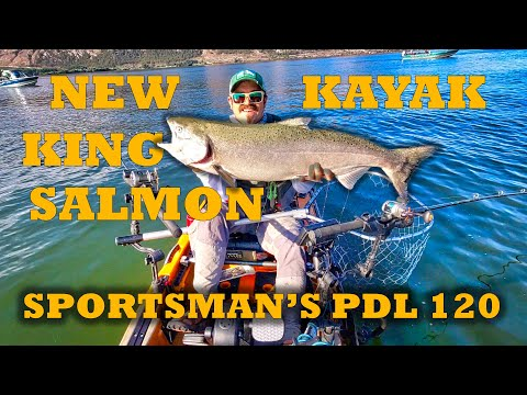 King Salmon Fishing In My New Kayak [Old Town Sportsman's PDL 120 Vs Topwater 120 PDL]