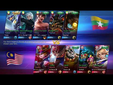 Let's Watch - Mobile Legend National Arena Contest: Malaysia vs Myanmar (Round 3)
