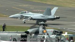 F/A18 Super Hornet F18 fighter attack jet display at Farnborough International Air Show 2010 HD