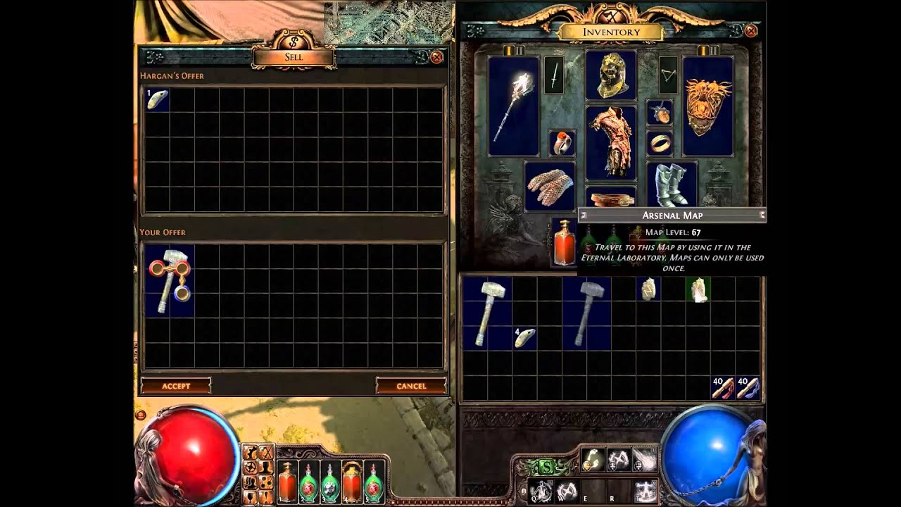 Path Of Exile Vendor Recipe Cartographers Chisel Youtube