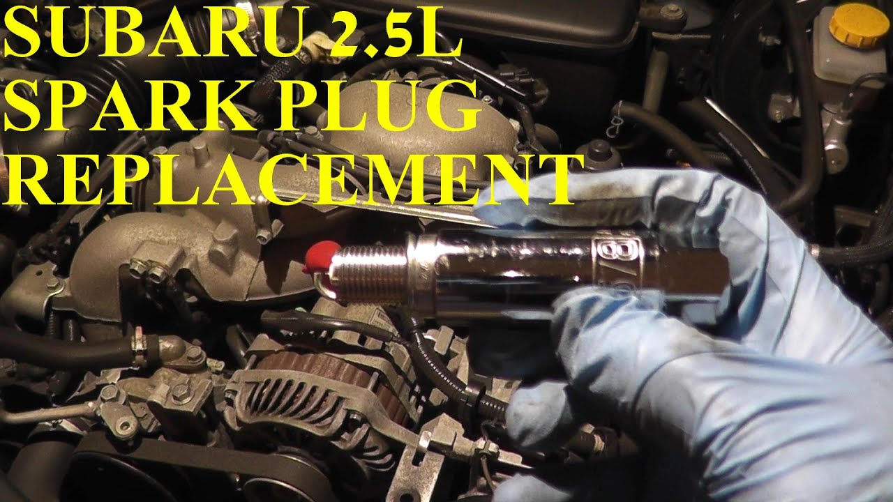 how to install replace spark plugs subaru impreza 2 5l [ 1280 x 720 Pixel ]