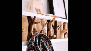 DIY Hanging Branch Coat Rack Decor Ideas
