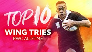 Top 10 Wing Tries In Rugby World Cup History | Lomu, Savea, Robinson & More