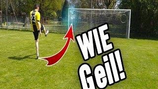 Fussball challenge - präzesion schießen