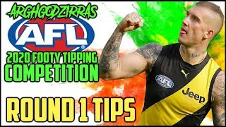 AFL 2020: ROUND 1 TIPS/PREDICTIONS | ARGHGODZIRRA'S AFL 2020 FOOTY TIPPING COMPETITION