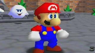 Super Mario 64 100% Walkthrough Part 5 - Big Boo's Haunt