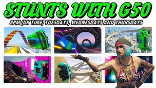 LIVE - STUNTS WITH G50 - COME JOIN US (( GTA 5 ONLINE PS4 )) thumbnail
