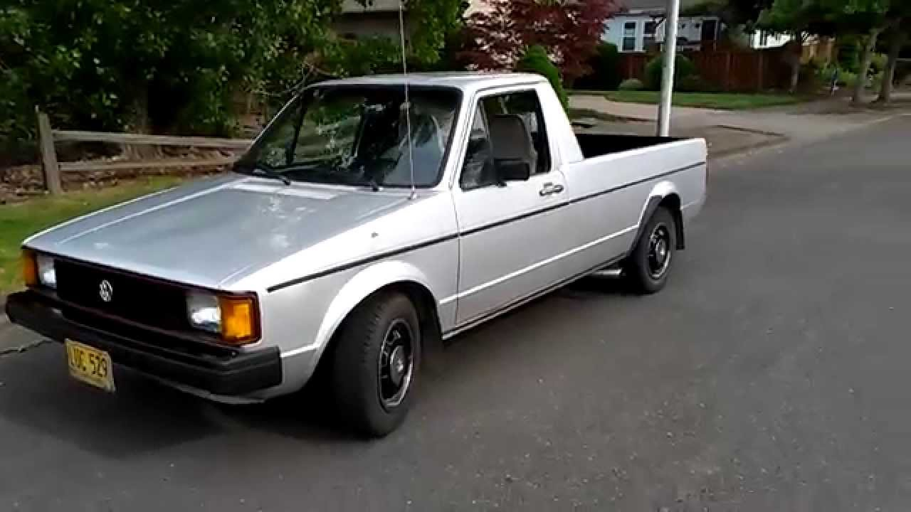 Vw Diesel Truck >> 1981 Vw Caddy 1 9 Turbo Diesel By Jmk Youtube