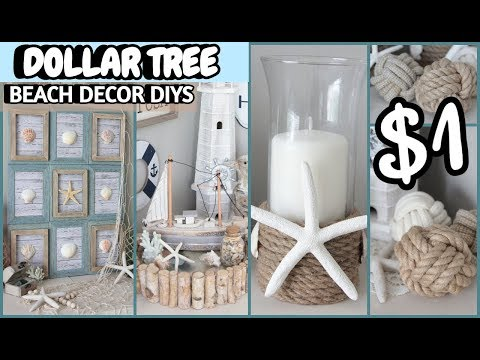 DOLLAR TREE BEACH DECOR DIYS 2019