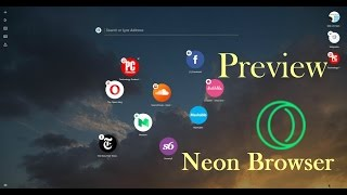 Opera NEON Browser Preview | AMAZING New Features like SPLIT Screen, Crop to Snap
