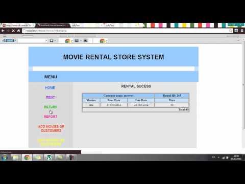 Movie rental store system