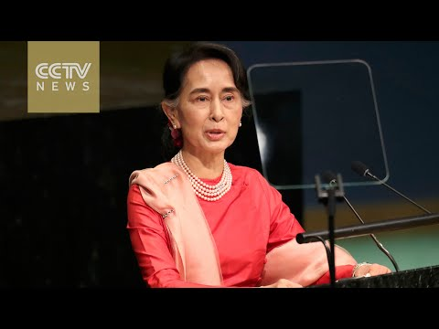 Suu Kyi delivers first speech at UN General Assembly as leader of Myanmar