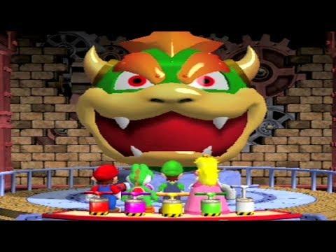 Mario Party 4 - All Funny Minigames - Mario vs Peach vs Luigi vs Yoshi