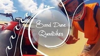 Quad biking massive sand dunes in Australia