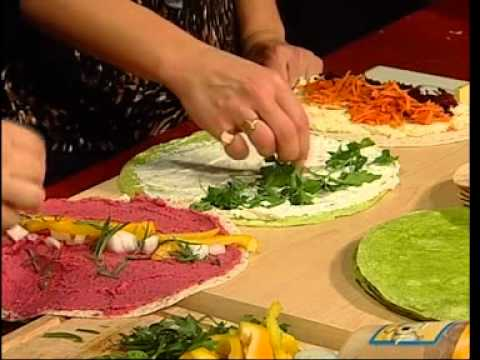 Rainbow Wraps Veggie, Meat or Raw Your Choice Triple Delicious Easy Real Whole Food Fast!