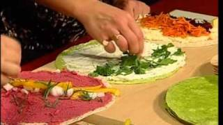 Rainbow Wraps - Veggie, Meat or Raw - Your Choice - Triple Delicious - Easy Real Whole Food Fast !