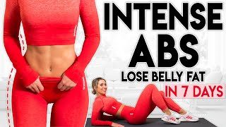 INTENSE ABS and LOSE BELLY FAT in 7 Days   7 minute Home Workout