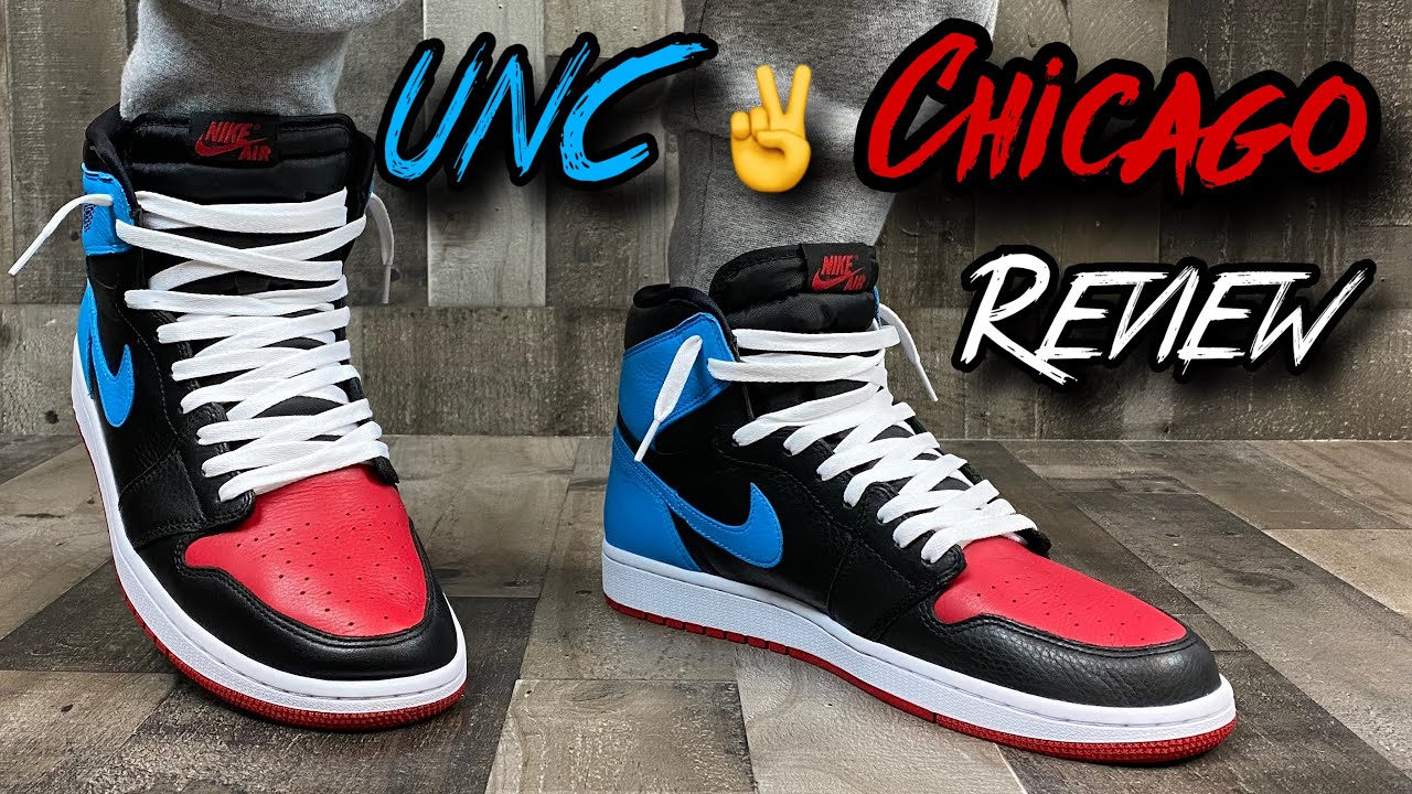 Early Women S Jordan 1 Unc To Chicago Review On Feet Youtube