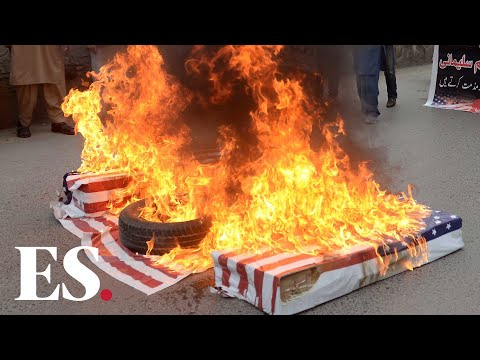 Iran Soleimani Death: Crowds Burn US Flags, Chant