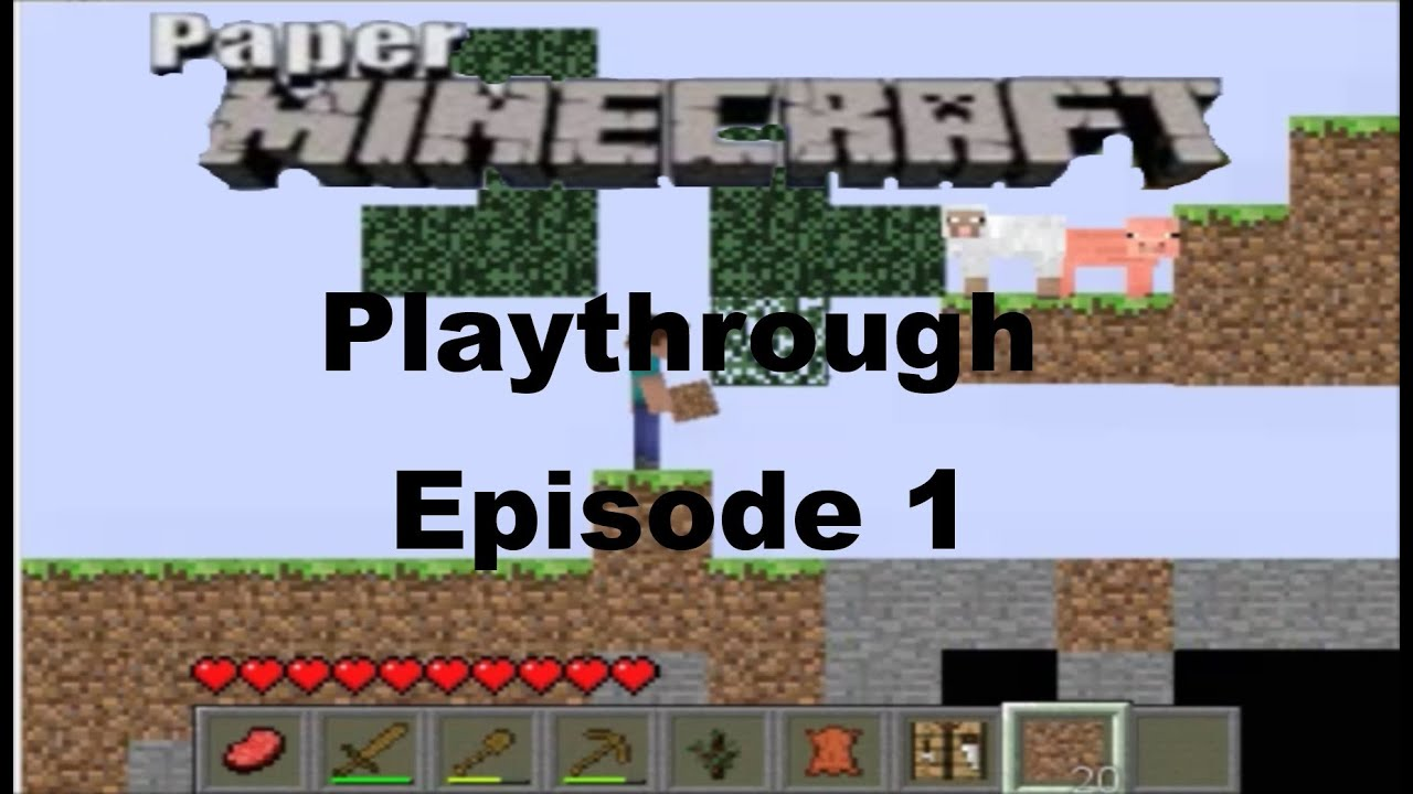 Paper Minecraft Playthrough Episode 1 A New World Youtube
