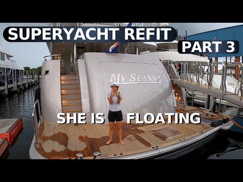 $26.5M DELTA MARINE SuperYacht MY SEANNA $4M REFIT PART 3 Before & After /below deck Yacht Tour