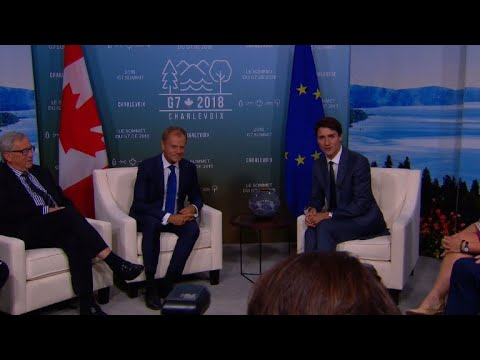World leaders arrive for G7 meeting in Canada