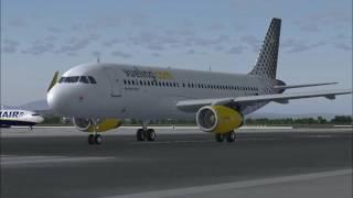 FS2004 Flight: Vueling 6336 Barcelona to Milan Malpensa LEBL LIMC [HD]