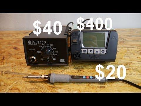 Soldering Irons Test $20 Vs $40 Vs $400!