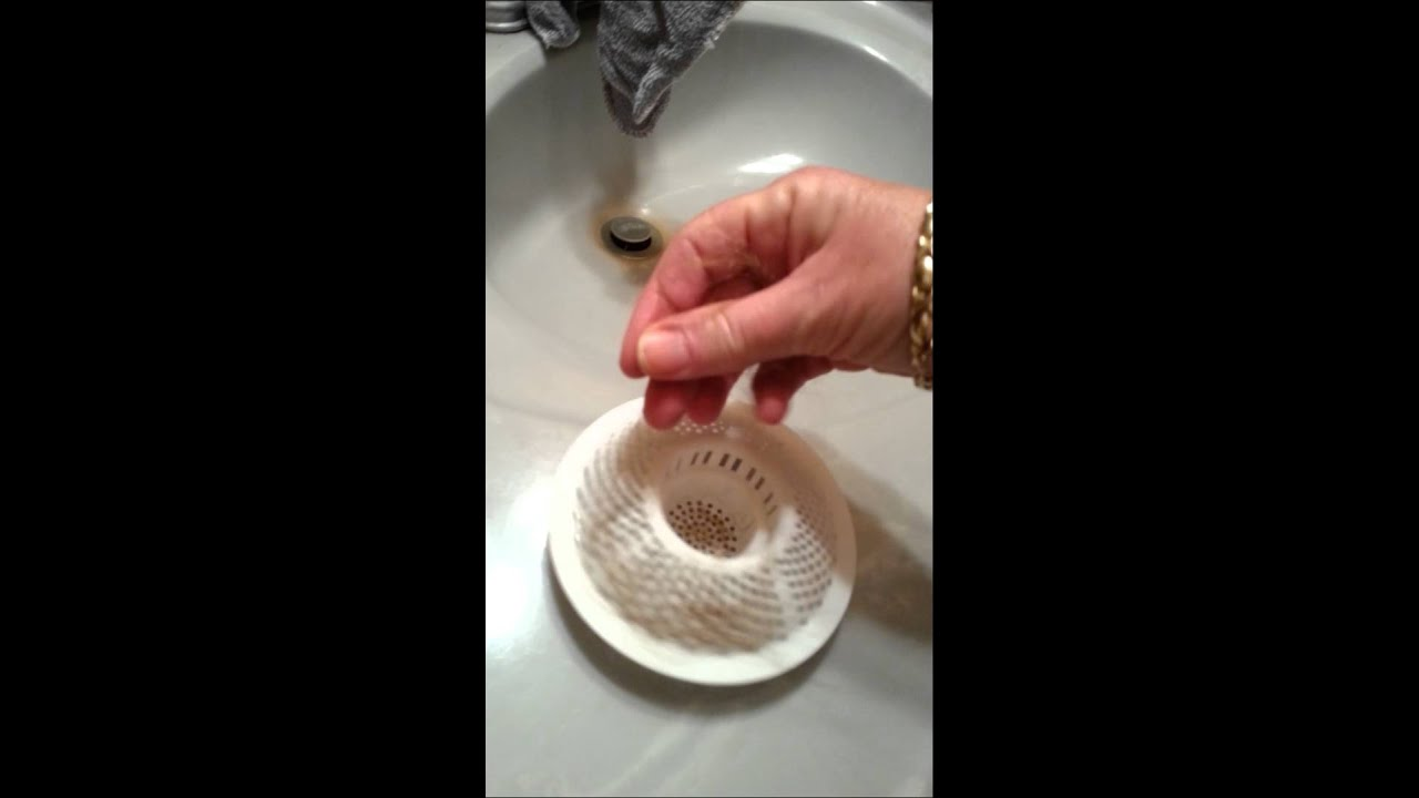 Shower drain hair catcher - YouTube