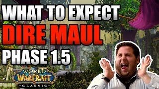 Everything You Can Expect With Dire Maul Release!! Phase 1.5 HYPE!!