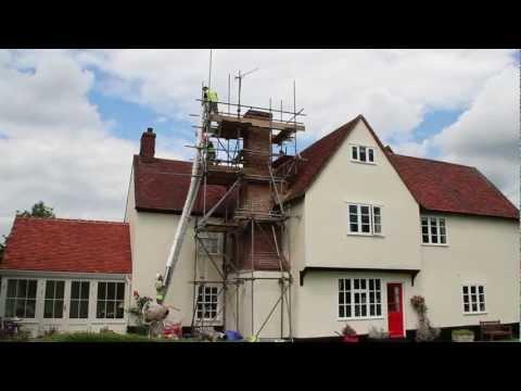 Tudor inglenook chimney rebuild, reline & wood stove installation